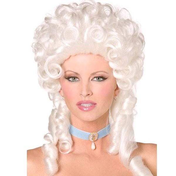 マリーアントワネット かつら ホワイトブロンド ウィッグ 髪の毛 大人用 コスプレ レディース 貴族 中世 ヨーロッパ 王妃 演劇 舞台 仮装 変装 小道具