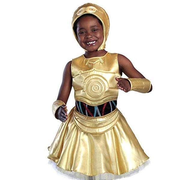 3ae8fdec3f5ce スターウォーズ C-3PO 子供用 キッズ コスチューム 衣装 コスプレ 女の子 ...