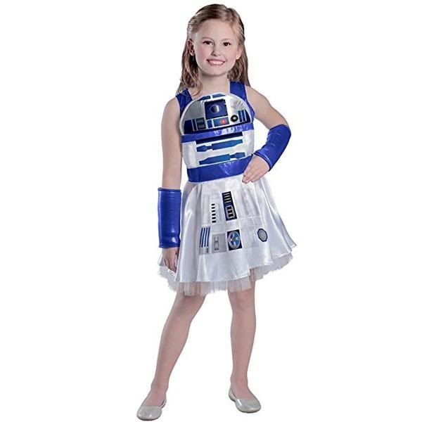 スターウォーズ R2D2 子供用 キッズ コスチューム 衣装 ドレス コスプレ 女の子 ハロウィン 仮装