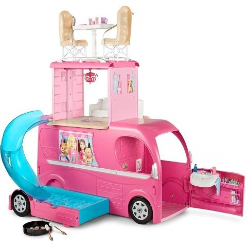 バービー ハウス ポップアップ キャンピングカー RV 人形 おもちゃ クリスマス プレゼント 誕生日 ギフト