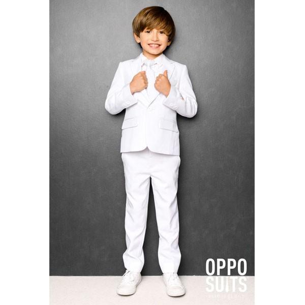 オッポスーツ ホワイト ボーイズ スーツ 白 子供 パーティー 真っ白 祝い 記念 結婚式 衣装