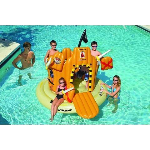 プール 遊具 パイレーツ アイランド 浮かぶ 海賊 基地 フロート