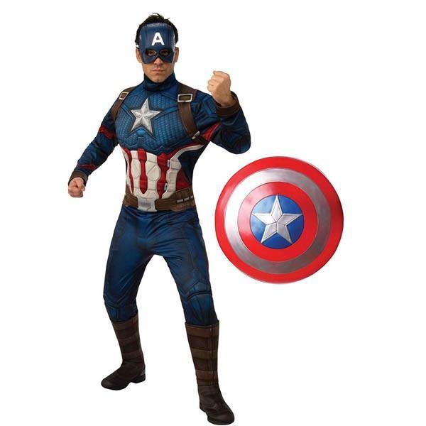 キャプテンアメリカ コスプレ シールド付き 大人 コスチューム アベンジャーズ 衣装 キャプテン アメリカ シールド
