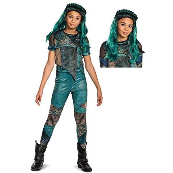 ディセンダント コスプレ ディセンダント 3 ウーマ 衣装 コスプレ コスチューム ウィッグ付き セット ディズニー 子供