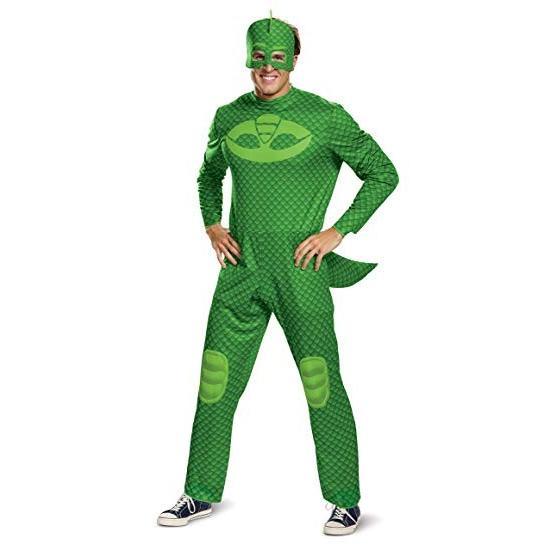 しゅつどう!パジャマスク コスプレ ゲッコー 大人 メンズ クラシック コスチューム グリーン ハロウィン 衣装 仮装
