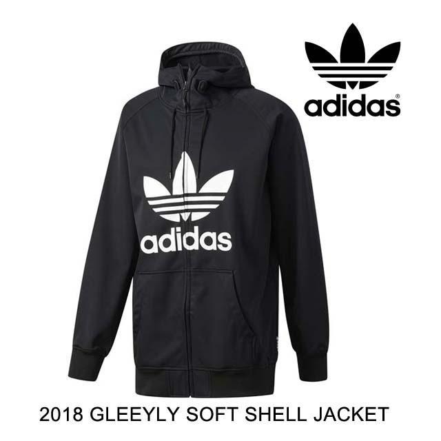 2018 ADIDAS アディダス ジャケット GREELEY SOFT SHELL JACKET 黒/白い