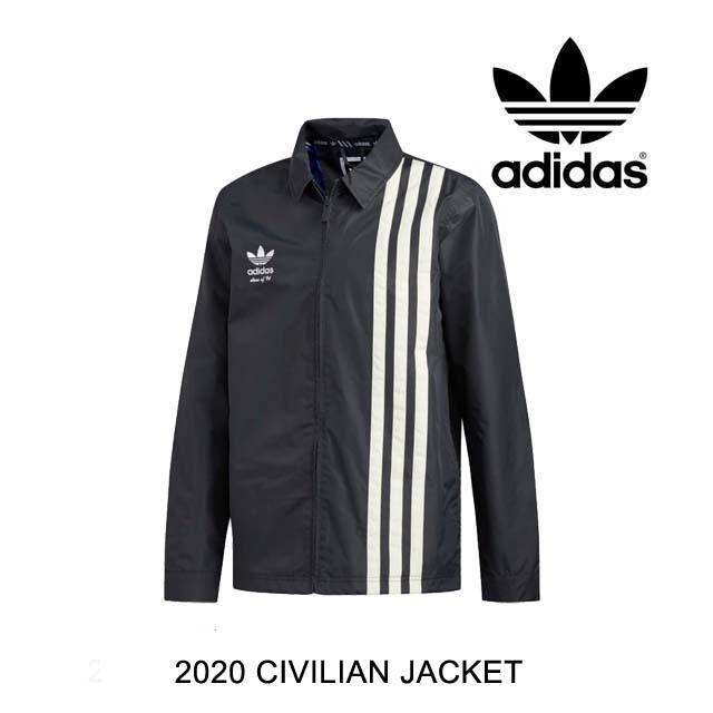 2020 ADIDAS アディダス ジャケット CIVILIAN JACKET CARBON / ACTIVE 青 / CREAM 白い