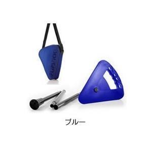 折りたたみ椅子 アウトドア ゴルフ観戦に最適な杖にもなりコンパクトに持ち運べる一本足の折りたたみイス Flipstick-フリップスティック- ブルー actlive2