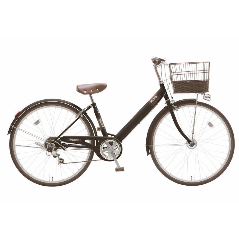 子供用自転車 シオノ マルロット 26 外装6段 オートライト (フラットブラック) SHIONO MALLROTTE 266 シティサイクル 塩野自転車