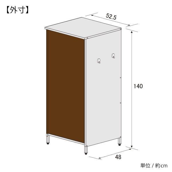 ガルバ製物置 スリム 高さ140cm|adachiseisakusyo|09