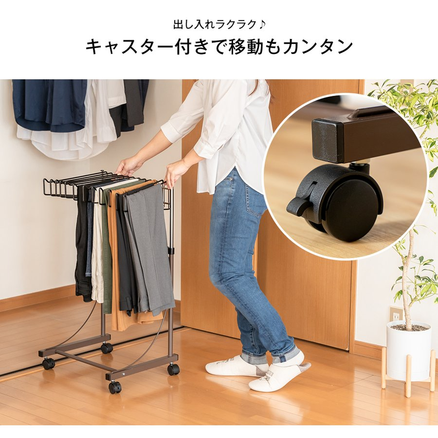 高さ伸縮スラックスハンガー(スイング式)12本掛|adachiseisakusyo|08