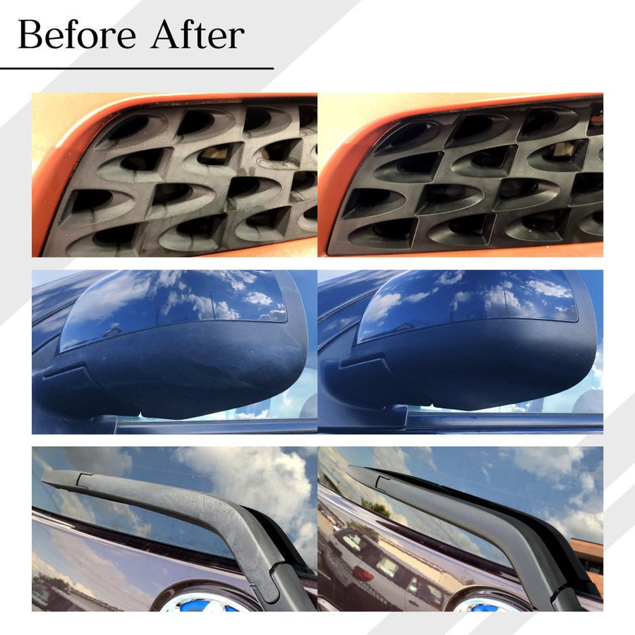 樹脂パーツ 復活 カー用品 樹脂 車 白ボケ 白化 未塗装樹脂 未塗装パーツ 黒樹脂 コーティング MPS SLASH 25ml|adamasocta|07