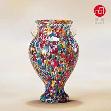 アデリア 津軽びいどろ 花瓶 ガラス フラワーベース おしゃれ インテリア 花器 かびん 花入れ 花びん ねぶたまつり 花器(小)
