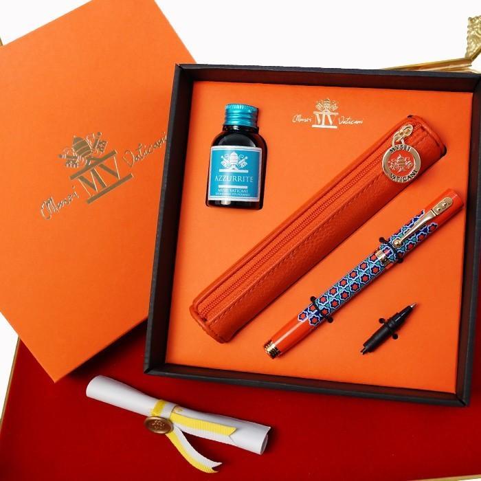 万年筆 ボールペン 筆記具 インク ペンケース セット CAMPO MARZIO バチカン美術館 DULCIS COLORUM SET|adesso-nip|07