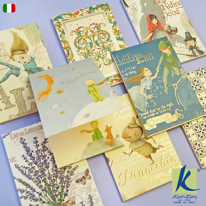 メモパッド イタリア製 Kartos カルトス ミニメモパッド メモ帳 MEMOPAD かわいい おしゃれ アリス 星の王子さま|adesso-nip