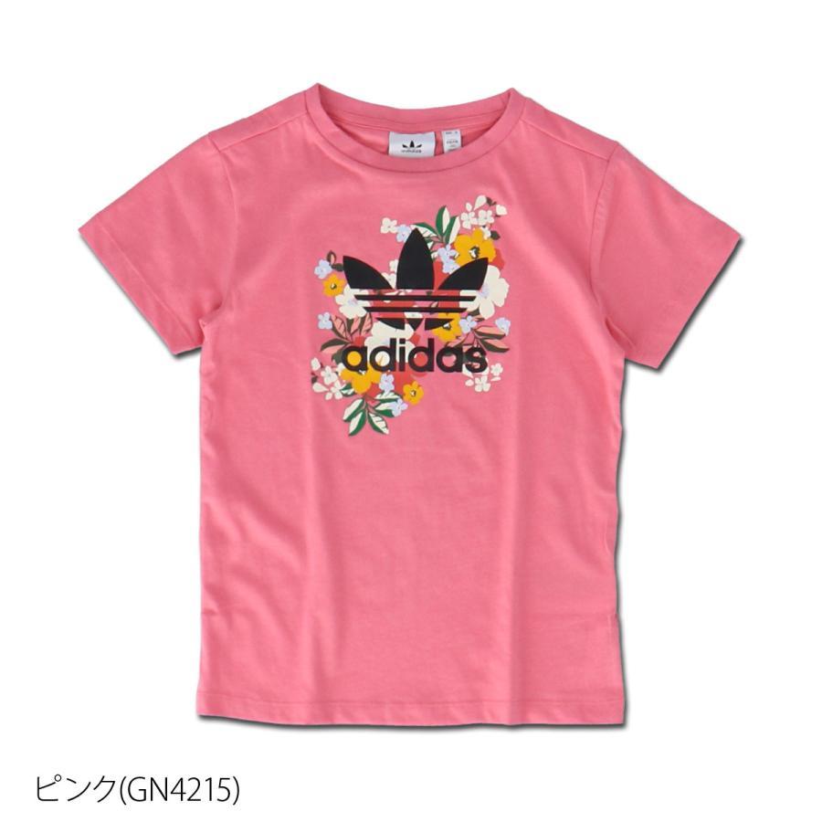 アディダス オリジナルス Tシャツ ガールズ 上 adidas originals 三つ葉 トレフォイル ビッグロゴ 花柄 フローラル 半袖 30746 送料無料 SALE セール|adistyle|03