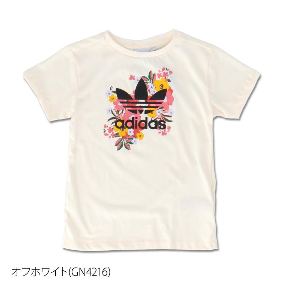 アディダス オリジナルス Tシャツ ガールズ 上 adidas originals 三つ葉 トレフォイル ビッグロゴ 花柄 フローラル 半袖 30746 送料無料 SALE セール|adistyle|05
