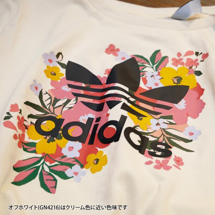 アディダス オリジナルス Tシャツ ガールズ 上 adidas originals 三つ葉 トレフォイル ビッグロゴ 花柄 フローラル 半袖 30746 送料無料 SALE セール|adistyle|07
