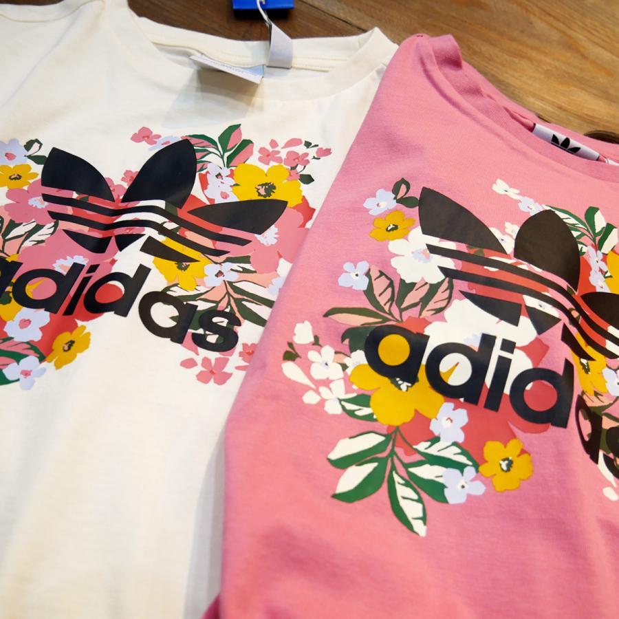 アディダス オリジナルス Tシャツ ガールズ 上 adidas originals 三つ葉 トレフォイル ビッグロゴ 花柄 フローラル 半袖 30746 送料無料 SALE セール|adistyle|09