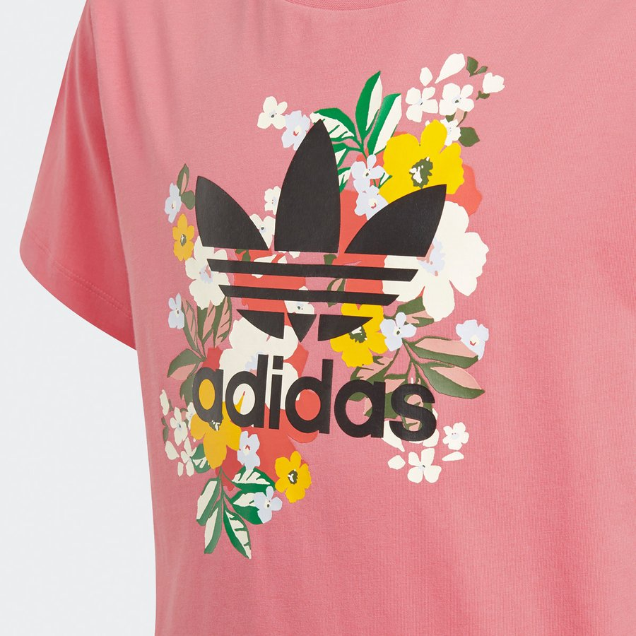 アディダス オリジナルス Tシャツ ガールズ 上 adidas originals 三つ葉 トレフォイル ビッグロゴ 花柄 フローラル 半袖 30746 送料無料 SALE セール|adistyle|10