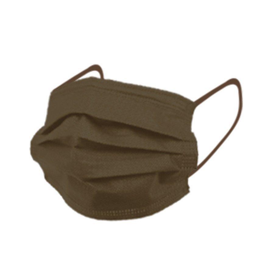 マスク 50枚 不織布マスク  アースカラー  使い捨て 耳に優しい平ゴム使用、 ウイル ス ,ハウスダスト,花粉|adlibitum|17