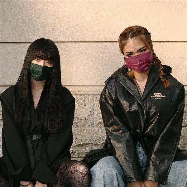 マスク 50枚 不織布マスク  アースカラー  使い捨て 耳に優しい平ゴム使用、 ウイル ス ,ハウスダスト,花粉|adlibitum|02