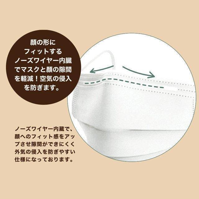 マスク 50枚 不織布マスク  アースカラー  使い捨て 耳に優しい平ゴム使用、 ウイル ス ,ハウスダスト,花粉|adlibitum|06