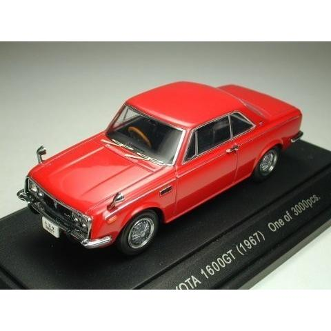 エブロ 1/43 トヨタ1600GT 5 1967 レッド 完成品