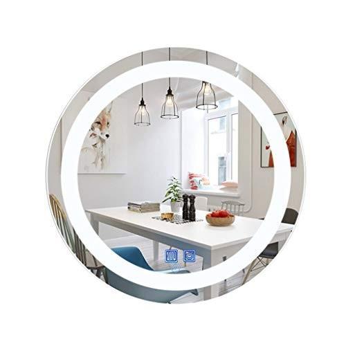 Ksmsem Ksmsem LED ミラー 壁掛け 浴室 化粧 丸め 防曇 調光可能