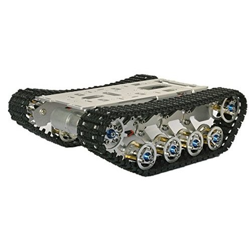 [タイクラフト] 組立済 サスペンション付きキャタピラロボットキット 23×19×7cm 3-12V駆動 電子工作 知育用