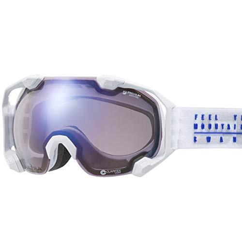 【国産ブランド】SWANS(スワンズ) スキー スノーボード ゴーグル ULTRAレンズ 撥水 くもり止め プレミアムアンチフォグ搭載 スキー スノー