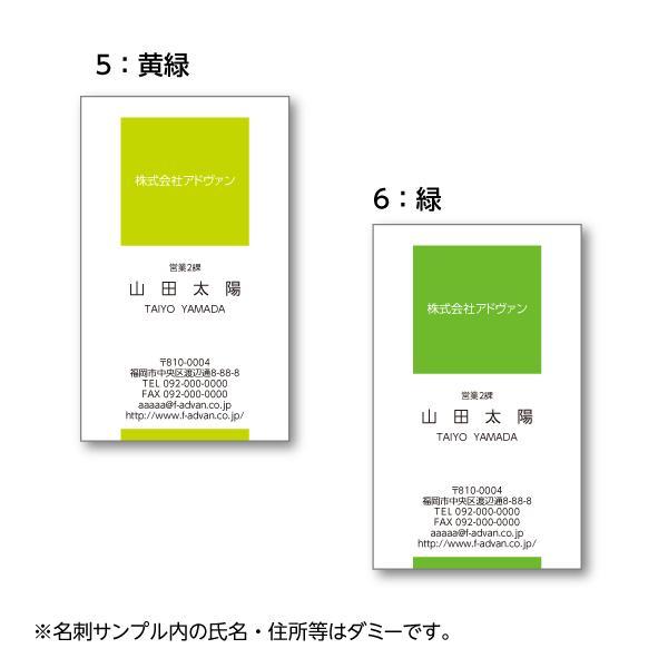 名刺作成 印刷 ビジネス オリジナル  選べる10色 カラー100枚 テンプレートで簡単作成 初めてでも安心 b023 advan-printing 04