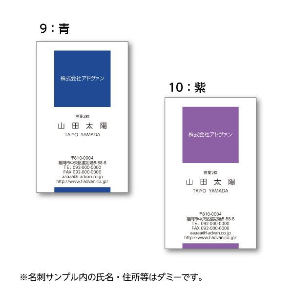 名刺作成 印刷 ビジネス オリジナル  選べる10色 カラー100枚 テンプレートで簡単作成 初めてでも安心 b023 advan-printing 06