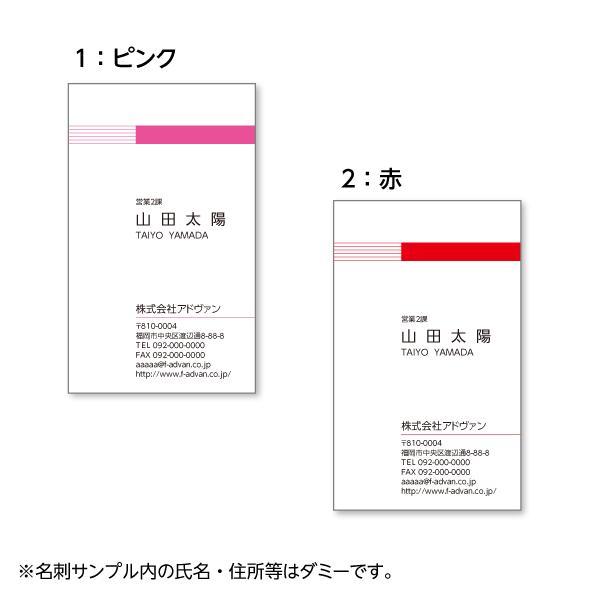名刺作成 印刷 ビジネス オリジナル  選べる10色 カラー100枚 テンプレートで簡単作成 初めてでも安心 b024|advan-printing|02