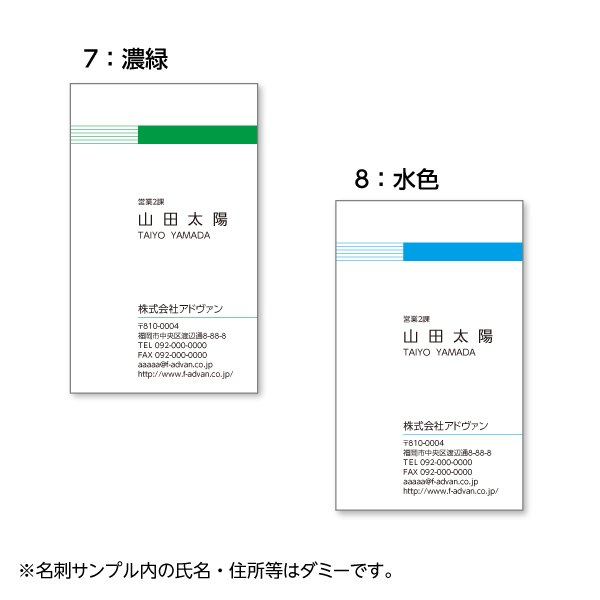 名刺作成 印刷 ビジネス オリジナル  選べる10色 カラー100枚 テンプレートで簡単作成 初めてでも安心 b024|advan-printing|05