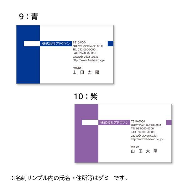 名刺作成 印刷 ビジネス オリジナル  選べる10色 カラー100枚 テンプレートで簡単作成 初めてでも安心 b031|advan-printing|06