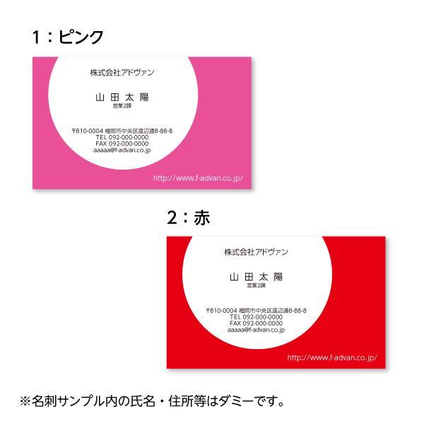 名刺作成 印刷 オリジナル カラー100枚 選べる10色 ビジネス テンプレートで簡単作成 初めてでも安心  b033|advan-printing|02