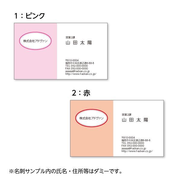 名刺印刷 作成 ビジネス オリジナル  選べる10色 カラー100枚 テンプレートで簡単作成 初めてでも安心 プチ起業応援 b036|advan-printing|02