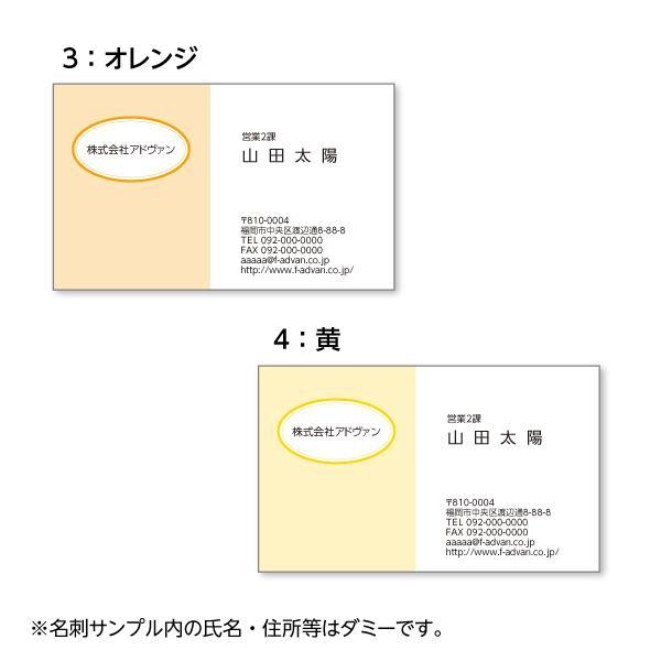 名刺印刷 作成 ビジネス オリジナル  選べる10色 カラー100枚 テンプレートで簡単作成 初めてでも安心 プチ起業応援 b036|advan-printing|03