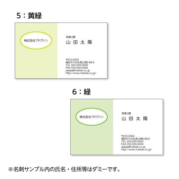 名刺印刷 作成 ビジネス オリジナル  選べる10色 カラー100枚 テンプレートで簡単作成 初めてでも安心 プチ起業応援 b036|advan-printing|04