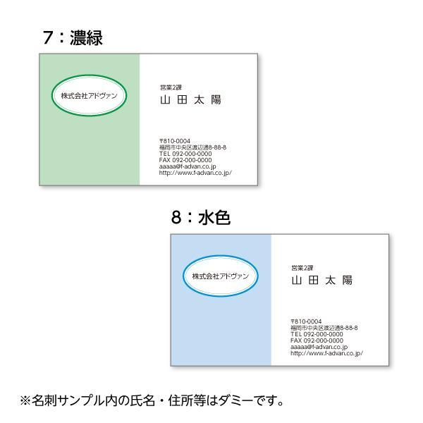 名刺印刷 作成 ビジネス オリジナル  選べる10色 カラー100枚 テンプレートで簡単作成 初めてでも安心 プチ起業応援 b036|advan-printing|05