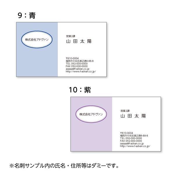 名刺印刷 作成 ビジネス オリジナル  選べる10色 カラー100枚 テンプレートで簡単作成 初めてでも安心 プチ起業応援 b036|advan-printing|06
