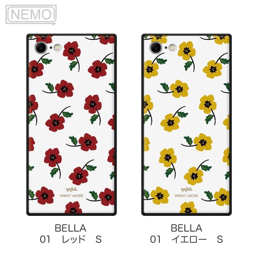 iPhone12 ケース 韓国 iPhone SE ケース iPhone11 ケース iPhoneケース iPhone12 mini ケース iPhone8 ケース iPhone12 Pro ケース ガラス スクエア 花柄 NEMO advan 07