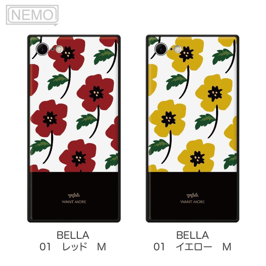 iPhone12 ケース 韓国 iPhone SE ケース iPhone11 ケース iPhoneケース iPhone12 mini ケース iPhone8 ケース iPhone12 Pro ケース ガラス スクエア 花柄 NEMO advan 08