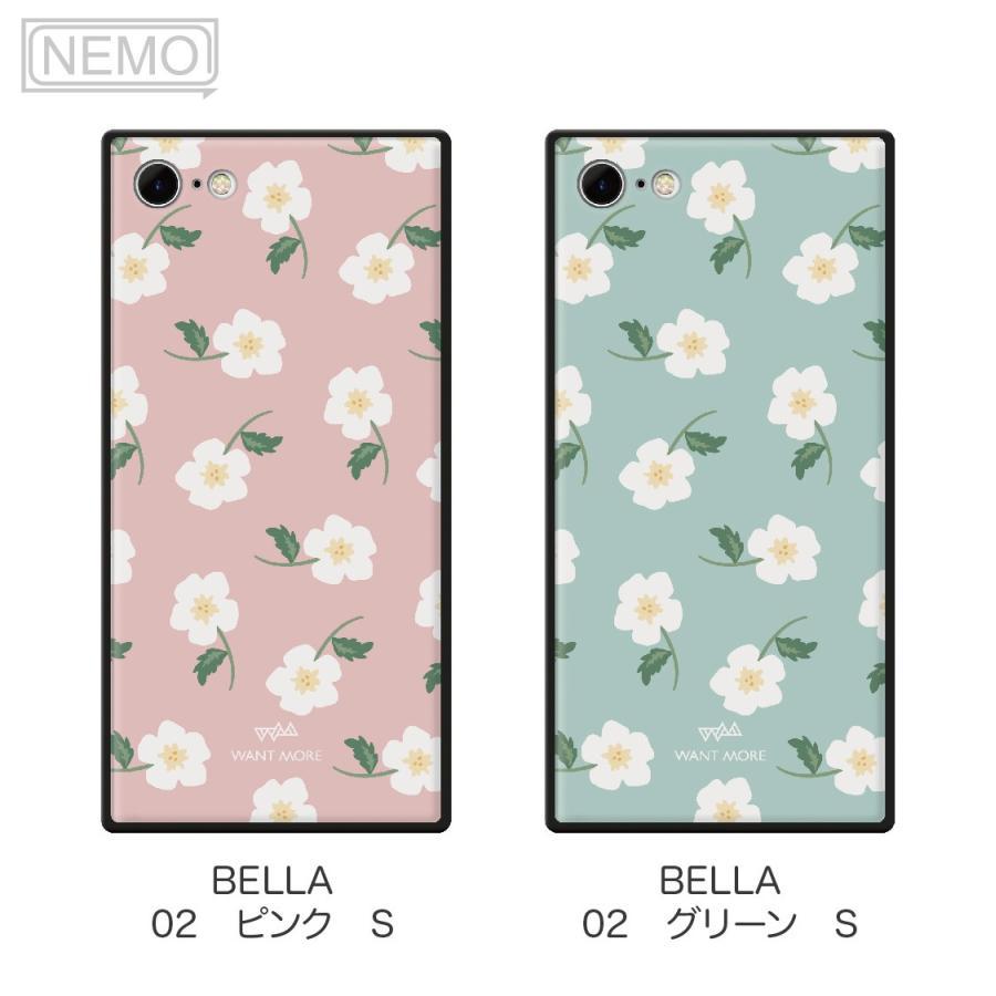 iPhone12 ケース 韓国 iPhone SE ケース iPhone11 ケース iPhoneケース iPhone12 mini ケース iPhone8 ケース iPhone12 Pro ケース ガラス スクエア 花柄 NEMO advan 10