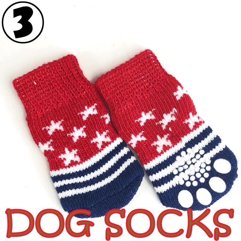 犬用 靴下 1セット4枚入 滑り止め付 6種類から選べる ワンちゃん ソックス ペット 用品|advanceworks2008|04