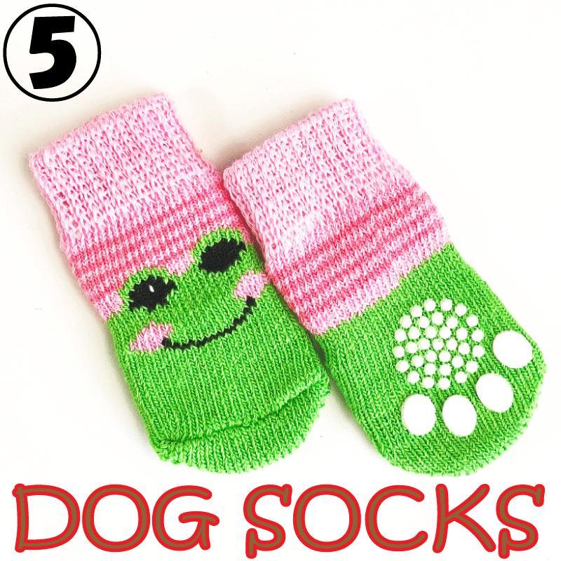 犬用 靴下 1セット4枚入 滑り止め付 6種類から選べる ワンちゃん ソックス ペット 用品|advanceworks2008|06