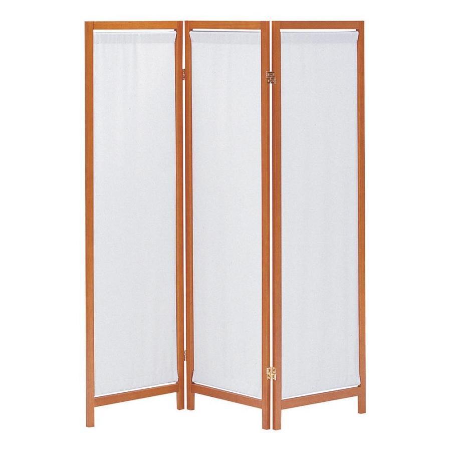 (送料無料)木製スクリーン(帆布)3連 HT-3 BR
