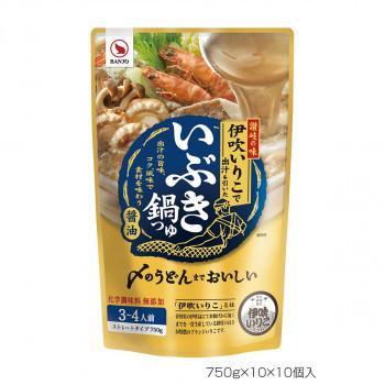 (送料無料)(代引き不可)BANJO 万城食品 いぶき鍋つゆ 750g 10×10個入 440172
