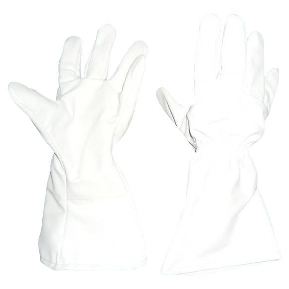 (送料無料)GABA 薔薇用突刺防止袖長手袋 フリーサイズ ライトグレー SP-5FB